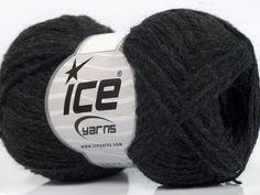 Fiber Content 50% Acrylic 25% Merino Wool 25% Alpaca Brand Ice Yarns Anthracite Black fnt2-45319