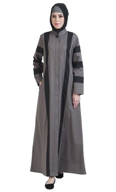 Front Open Cotton Jilbab Jacket