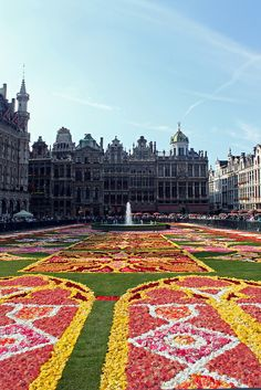 Brussels flower carpet, Belgium