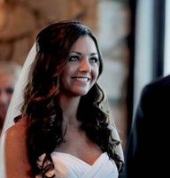 Holly Durst wavy/curly wedding hair style