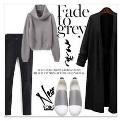 """""""FADE TO GREY x YOINS"""" by gigi-lucid ❤ liked on Polyvore featuring Topshop, yoins, yoinscollection and loveyoins"""