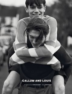 Brothers Callum and Louis Ball at SUPA Model Management grace one of the covers of Issue 10 'Muse'. photographed by Cecilie Harris. Fashion by David Nolan.