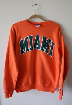 Vintage University of Miami Sweatshirt by CapItOffVintage on Etsy