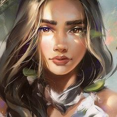 Image in Character illustration collection by Jung Kyung-Soon Digital Art Girl, Digital Portrait, Portrait Art, Cartoon Kunst, Cartoon Art, Girly Drawings, Art Drawings, Fantasy Kunst, Fantasy Art