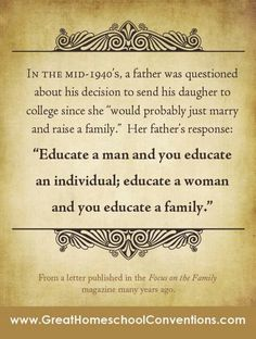 Educated woman