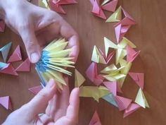 Monika i Origami: Wielkanocne jajo Paper Crafts Origami, Paper Quilling, Paper Art Video, Christmas Decorations To Make, Christmas Diy, Diy Crafts Videos, Diy And Crafts, 3d Origami Swan, Origami Modular