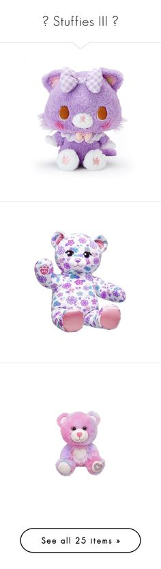 """""""♘ Stuffies III ♘"""" by cat-on-wheels ❤ liked on Polyvore featuring accessories, baby, stuffed animals, baby stuff, toys, baby boy, kids, stuffed toys, teddy bear and hello kitty"""