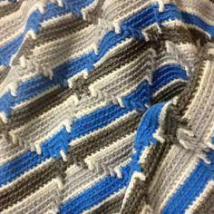 "A crotchet blanket ""Indian Navajo"" pattern"