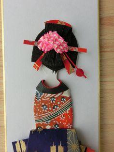 ukiyoe japanese girl washi ningyou by Akioswashiningyou on Etsy
