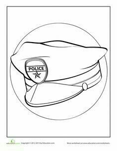 Heres A Hat You Can Respect Have Some Fun With This Police Coloring Page Would Want To Be Officer When Grow Up