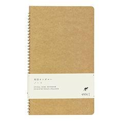 Midori Spiral Pockets Notebook Kangaroo