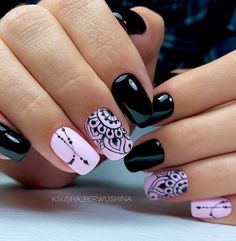 nail designs hansen chrome nail makeup nail art nailart nail art designs inc nail makeup inc nail makeup inc nail makeup harley gardens makeup design Dark Color Nails, Dark Nails, Nail Colors, Dark Nail Art, New Nail Art Design, Cool Nail Designs, Salon Design, Pretty Nails, Fun Nails