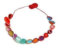 crocheted circles necklace