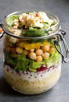 Marokkanischer Salat im Glas