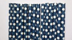 25 Navy Blue Swiss Polka Dot Paper Straws- Minnie and Mickey Mouse Party Decorations- Nautical Party, Baby Shower, Birthday Cake Pops