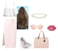 """""""Sin título #13"""" by nahitos-pazmino on Polyvore featuring moda, MSGM, Design Lab, Lime Crime, Lipsy y MICHAEL Michael Kors"""