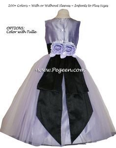gray and purple flower girl dresses | ... : charcoal gray silk , jr bridesmaids dress , light gray , Pegeen.com