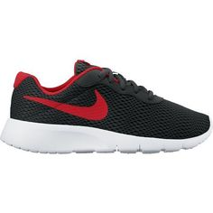 Nike Boys' Tanjun Running Shoes (Anthracite/University Red/White, Size 6) - Youth Running Shoes at Academy Sports