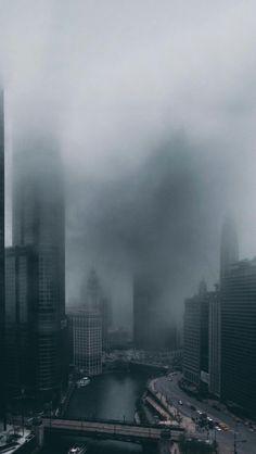 gray cityscape background