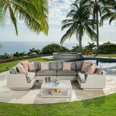 $2800 - costco Portofino Comfort 7-piece Modular Sectional Set in Kona Taupe