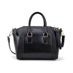 Bolso Yucheer de Cuero Sintético Elegante para Mujer-Negro Bolsas De Mão De  Couro 4150b8fd2b3