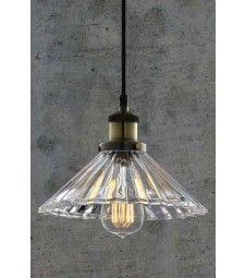Yves Vintage Glass Pendant Light