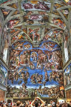 Sistine Chapel (Italian: Cappella Sistina), Rome, Italy the more you look at it , the more you'll feel moved.