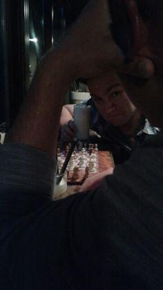 Iteawon, South Korea-Ray being just a bit toooo serious in a game of drunk chess.