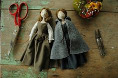 Tiny cloth dolls by Willowynn available from 10 August 10am (EDST). www.willowynn.com