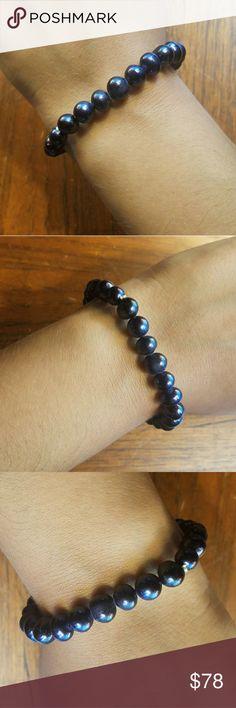 "NWOT Genuine Black Freshwater Pearls Bracelet NWOT Genuine Black Freshwater Pearls Stretchy Bracelet. 7"" Jewelry Bracelets"