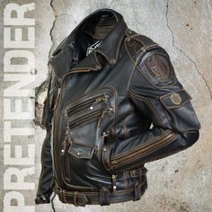 Men's Leather Jackets: How To Choose The One For You. A leather coat is a must for each guy's closet and is likewise an excellent method to express his individual design. Leather jackets never head out of styl Leather Jacket Outfits, Men's Leather Jacket, Biker Leather, Cowhide Leather, Leather Men, Leather Jackets, Tactical Clothing, Herren Outfit, Jacket Style