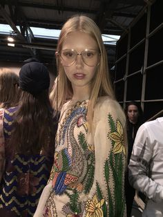 Snakes, specs and super-prints: backstage at the Milan Gucci show – in pictures