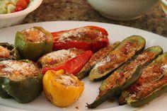 Stuffed zucchini. Easy summer appetizer. Eat Up! A Great Summer Squash Recipe