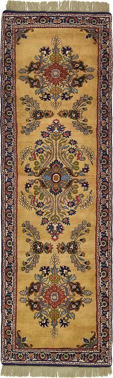 Tan 2' 9 x 8' 11 Kerman Persian Runner Rug   Persian Rugs   eSaleRugs