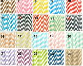 "200 ""Pick Your Color(s)""  Bulk Discount / Paper Drinking Straws / Mason Jar Straws / Fast Shipping / USA SELLER"