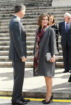 Spanish Royals attend the opening of the Miguel de Cervantes exhibition