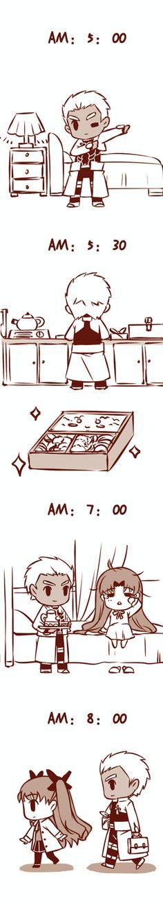 Fate/ Stay Night Archer x Rin Doujinshi - Accuracy hurts