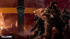 Download Killzone Soldiers Flag Sky Clouds Wallpaper « Kuff Games