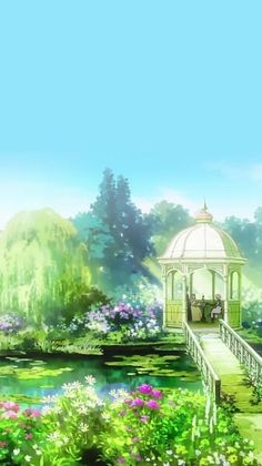 Find images and videos about anime, flowers and wallpaper on We Heart It - the app to get lost in what you love. Scenery Background, Scenery Wallpaper, Fantasy Art Landscapes, Landscape Art, Violet Evergarden Wallpaper, Stock Design, Violet Evergreen, Violet Garden, Violet Evergarden Anime
