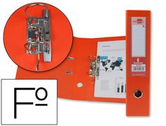 Archivador de palanca Documenta naranja en tamaño Folio