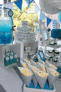 Blue Party Decorating Ideas ocean baby shower - google search | baby shower | pinterest