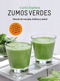 En este completo libro de Carla Zaplana se incluyen treinta recetas de zumos verdes, para cuidarnos por dentro y por fuera