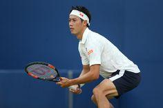 September 3, 2016 - Kei Nishikori in action against Nicolas Mahut during the…