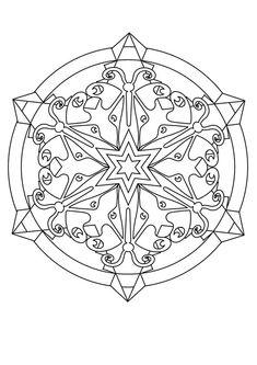 snowflake mandala coloring pages - Google Search | holidays ...