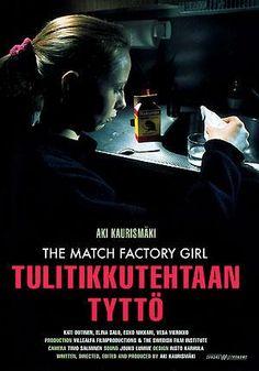"""""""Tulitikkutehtaan tyttö"""", aka """"The Match Factory Girl"""", drama film by Aki Kaurismäki (Finland, 1990)"""