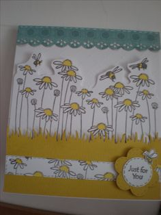 Daisy stamp from Stampendous.(Craftyhearts)