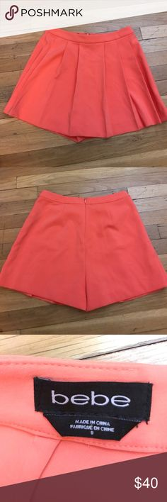 Bebe Skirt Bebe skirt perfect color for spring, size 8. There is a small mark on the front of the skirt but it isn't noticeable, I included a picture of it above. bebe Skirts