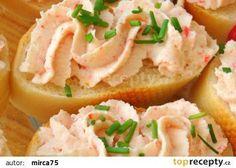 Krabí pomazánka recept - TopRecepty.cz Slovak Recipes, Czech Recipes, No Salt Recipes, Snack Recipes, Cooking Recipes, Tapas, Modern Food, Savory Snacks, Appetisers