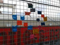 carrés de tricot assemblés