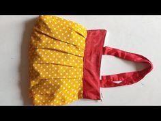 न क्विल्टिंग , न अस्तर , न फोम ,10 मिनट में बैग बनाए // New Zipper Bag // Bag banane Ka tarika - YouTube Bag Patterns To Sew, Dress Sewing Patterns, Pattern Sewing, Sewing Art, Sewing Crafts, Diy Purse No Sew, Diy Bags Easy, Diy Fabric Jewellery, Girls Dresses Sewing